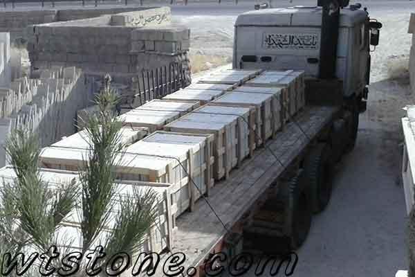 بارگیری سنگ های پالتی سفارشی و یا صادراتی